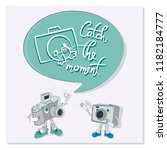 funny characters with quote... | Shutterstock .eps vector #1182184777