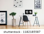 picture gallery and a concrete...   Shutterstock . vector #1182185587