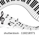 musical note staff with lines.... | Shutterstock . vector #118218571