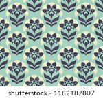 seamless retro pattern with...   Shutterstock .eps vector #1182187807