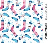 seamless vector pattern with... | Shutterstock .eps vector #1182190111