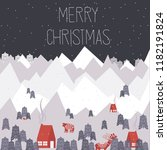 cute merry christmas greeting... | Shutterstock .eps vector #1182191824