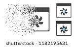 fan calendar page icon in... | Shutterstock .eps vector #1182195631
