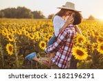 loving couple is walking in a... | Shutterstock . vector #1182196291