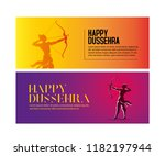 illustration of lord rama with... | Shutterstock .eps vector #1182197944