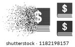 dollar accounting book icon in... | Shutterstock .eps vector #1182198157