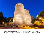 the maiden tower at night. it...   Shutterstock . vector #1182198787
