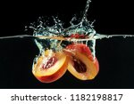 Peach Dropped Into Water With...
