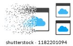 cloud calendar page icon in... | Shutterstock .eps vector #1182201094