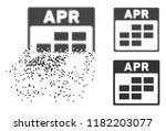 april calendar grid icon in... | Shutterstock .eps vector #1182203077
