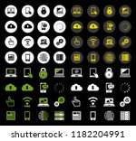 vector phone and computer icons ... | Shutterstock .eps vector #1182204991