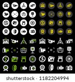 vector photography icons set  ... | Shutterstock .eps vector #1182204994