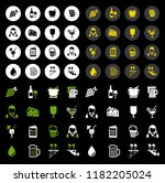 wine icons set | Shutterstock .eps vector #1182205024