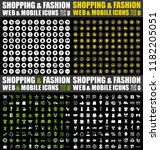 shopping fashion icons set....
