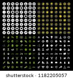 vector sports icons set. vector ... | Shutterstock .eps vector #1182205057