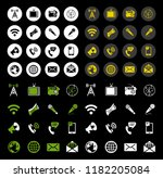 vector icons of like  handset ... | Shutterstock .eps vector #1182205084