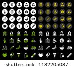 healthy care and medical icons... | Shutterstock .eps vector #1182205087