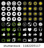 vector entertainment icons set  ... | Shutterstock .eps vector #1182205117
