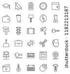 thin line vector icon set  ... | Shutterstock .eps vector #1182213187