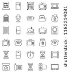 thin line vector icon set  ... | Shutterstock .eps vector #1182214081