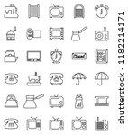 thin line vector icon set  ... | Shutterstock .eps vector #1182214171