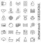 thin line vector icon set  ... | Shutterstock .eps vector #1182214261