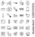 thin line vector icon set  ... | Shutterstock .eps vector #1182215221