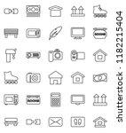 thin line vector icon set  ... | Shutterstock .eps vector #1182215404