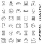 thin line vector icon set  ... | Shutterstock .eps vector #1182215434