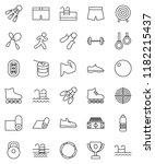 thin line vector icon set  ... | Shutterstock .eps vector #1182215437