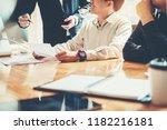 business people meeting...   Shutterstock . vector #1182216181
