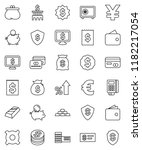 thin line vector icon set  ... | Shutterstock .eps vector #1182217054