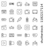 thin line vector icon set  ... | Shutterstock .eps vector #1182217114