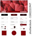 dark red vector design ui kit...