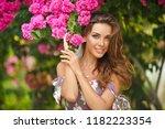 portrait of a very beautiful... | Shutterstock . vector #1182223354