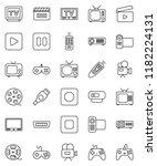 thin line vector icon set  ... | Shutterstock .eps vector #1182224131