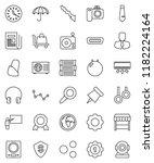 thin line vector icon set  ... | Shutterstock .eps vector #1182224164