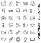 thin line vector icon set  ... | Shutterstock .eps vector #1182224287