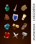 game items set. vector ancient...