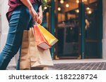 consumerism  shopping lifestyle ... | Shutterstock . vector #1182228724