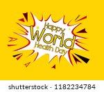 happy world press day  pop art... | Shutterstock .eps vector #1182234784