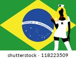 the flag of brazil with a... | Shutterstock .eps vector #118223509