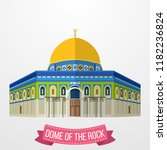 dome of the rock icon on white... | Shutterstock .eps vector #1182236824