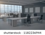 clean coworking office interior ... | Shutterstock . vector #1182236944