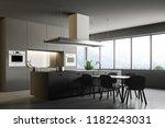 corner of a modern kitchen with ... | Shutterstock . vector #1182243031