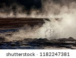 dawn at the geysers and...   Shutterstock . vector #1182247381