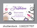 cosmetics sale banners and ads... | Shutterstock .eps vector #1182257707