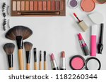flat lay of beauty cosmetic... | Shutterstock . vector #1182260344