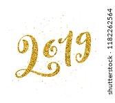 happy new 2019 year. vector... | Shutterstock .eps vector #1182262564