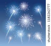festive patterned fireworks ... | Shutterstock .eps vector #1182262777
